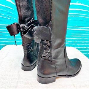 Gianni Bini Corset Bow Combat look Boots size 7